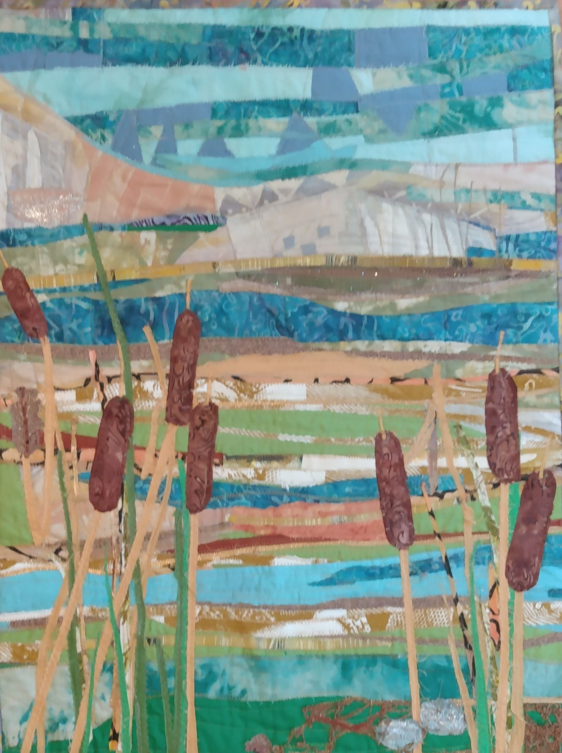 Cattails textile work
